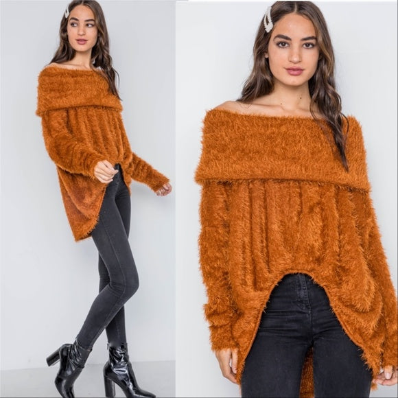 ERICKA Soft Fuzzy Sweater-Sweater-Moda Me Couture