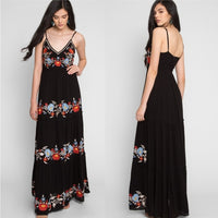 Embroidered Maxi Dress-Dress-Moda Me Couture