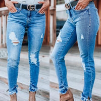 MEGAN Distressed Jeans-Jeans-Moda Me Couture