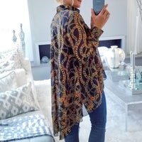 ELISA Chain Print Top-Tops-Moda Me Couture
