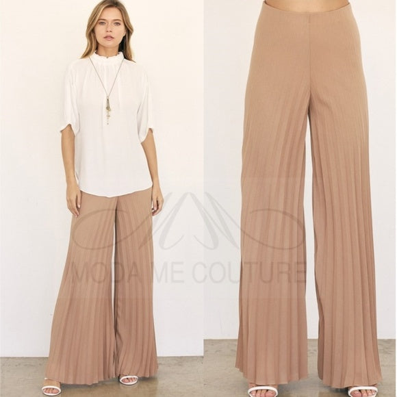 Amanda Pleated Pants-Pants-Moda Me Couture