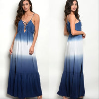 Boho Beauty Maxi Dress Blue-Dress-Moda Me Couture