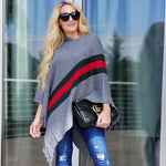 EVIE Striped Sweater Poncho