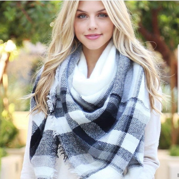 Classic Oversized Blanket Scarf-Accessories-Moda Me Couture