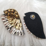 On His Wings Statement Earrings-Jewelry-Moda Me Couture