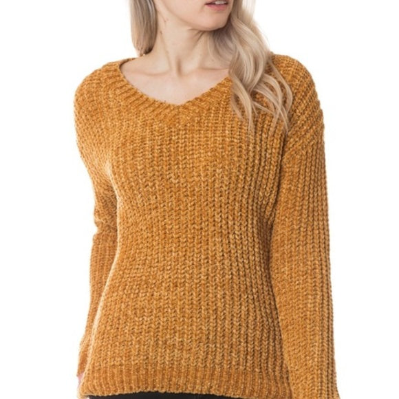 Ultra Soft Sweater Mustard-Sweater-Moda Me Couture