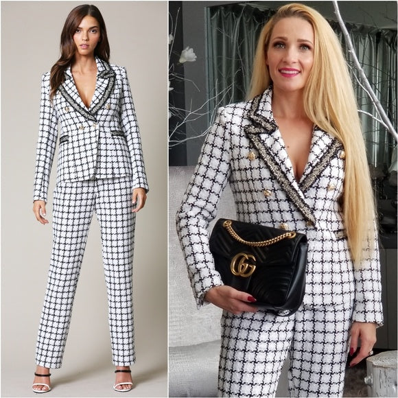 CHANTEL Tweed Jacket with Pants Suit-Pants-Moda Me Couture