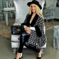 CHANTELLA Tweed Cape-Jackets & Coats-Moda Me Couture