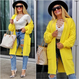 KANARY Yellow Soft Cardigan-Sweater-Moda Me Couture