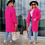 BREE Soft Pink Cardigan-Sweater-Moda Me Couture