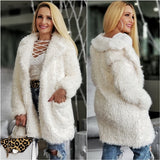 Angelika Cream Faux Fur Coat-Jackets & Coats-Moda Me Couture