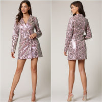 KENDRA Snake Print Blazer Dress
