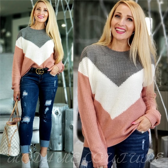 BECCA Casual Sweater Top - Pink