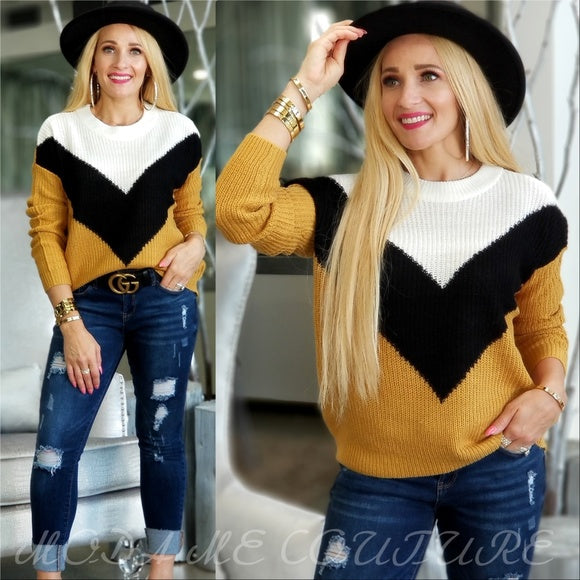BECCA Casual Sweater Top - Yellow