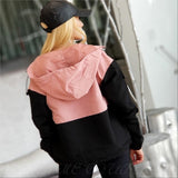 Abby Lightweight Jacket - Pink Black-Jackets & Coats-Moda Me Couture
