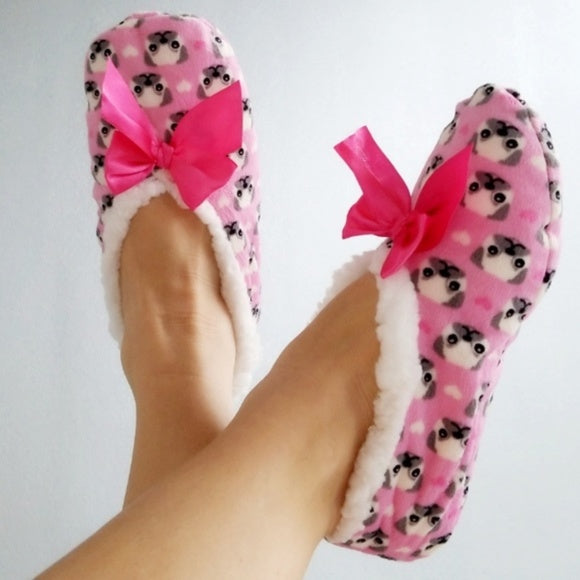 Puppy Slippers House Shoes-Shoes-Moda Me Couture