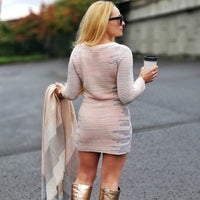 Fiona Sweater Dress-Dress-Moda Me Couture