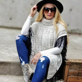 Lenora Sweater Poncho-Sweater-Moda Me Couture