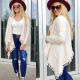 JOHANNA WaterFall Front Cardigan-Sweater-Moda Me Couture