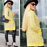 Sunshine Knit Cardigan - Yellow-Sweater-Moda Me Couture