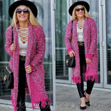 Yelana Pink Knit Cardigan-Sweater-Moda Me Couture