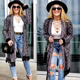 Yelana Black Knit Cardigan-Sweater-Moda Me Couture