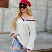 Rianna Frayed Distress Sweater-Sweater-Moda Me Couture