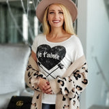Je t'aime Graphic tee-Tops-Moda Me Couture