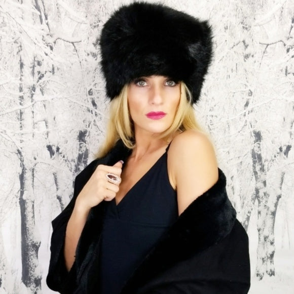 Black Russian Fur Hat | Moda Me Couture