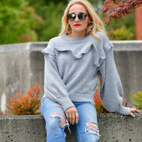 Steph - Gray Sweater-Sweater-Moda Me Couture