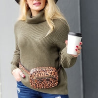 Olive Green Knit Sweater-Sweater-Moda Me Couture