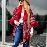 Chic Fall Poncho Shrug-Sweater-Moda Me Couture