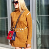 ALI Cable Knit Sweater Dress-Dress-Moda Me Couture