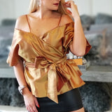 Glam & Elegance Wrap Top-Tops-Moda Me Couture