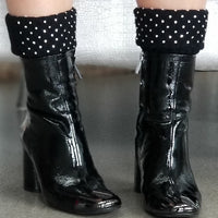 Classic Knit Rhinestone Boot Cuffs-Accessories-Moda Me Couture
