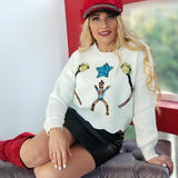 Soldier Christmas Sweater Cream-Sweater-Moda Me Couture