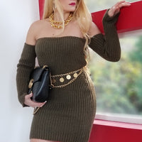 OLIVE Sweater Dress-Dress-Moda Me Couture
