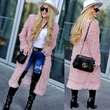 PAYTON Blush Pink Faux Fur Coat-Jackets & Coats-Moda Me Couture