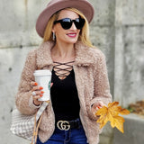 Acadia Faux Fur Coat Tan-Jackets & Coats-Moda Me Couture