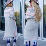 Boho Chic Aztec Open Front Cardigan-Sweater-Moda Me Couture