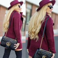 ALLI Burgundy Sweater Jacket-Jackets & Coats-Moda Me Couture
