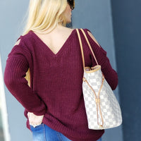Cozy Burgundy Sweater-Sweater-Moda Me Couture