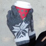 Warm Winter Mittens Gloves Gray-Accessories-Moda Me Couture