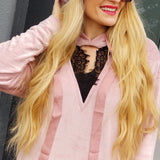 Pinch of Sass Velvet Sweatshirt Hoodie-Tops-Moda Me Couture