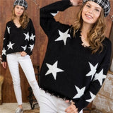 CAPELLA Star Print Sweater-Sweater-Moda Me Couture