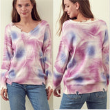Tie Dye Sweater Top-Tops-Moda Me Couture