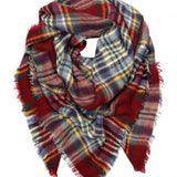 All Bundled Up Oversized Plaid Blanket Scarf-Accessories-Moda Me Couture