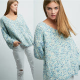 Sky's The Limit Ultra Soft Sweater - Blue-Sweater-Moda Me Couture