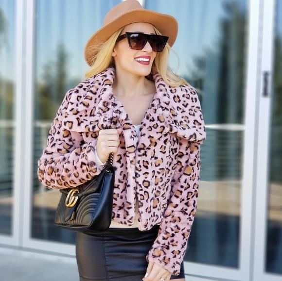 Sassy & Fearless Leopard Print Jacket-Jackets & Coats-Moda Me Couture