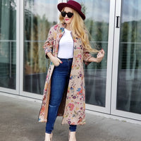 Feminine in Florals Suede Jacket-Jackets & Coats-Moda Me Couture